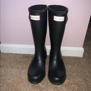 Kids size 3 tall black hunter boots